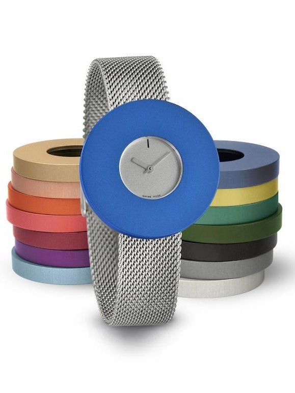 Vignelli | Pierre Junod Halo 34mm MV dot edelstalen mesh band