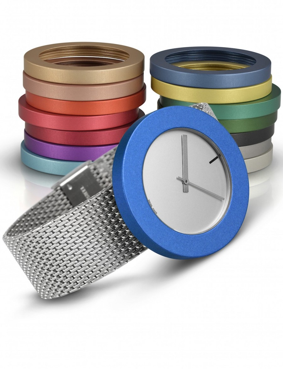 Vignelli | Pierre Junod Large 40mm mv 40 zwart mesh band