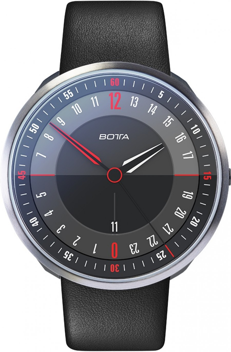 Botta Design tres 24 plus black 789710 quartz