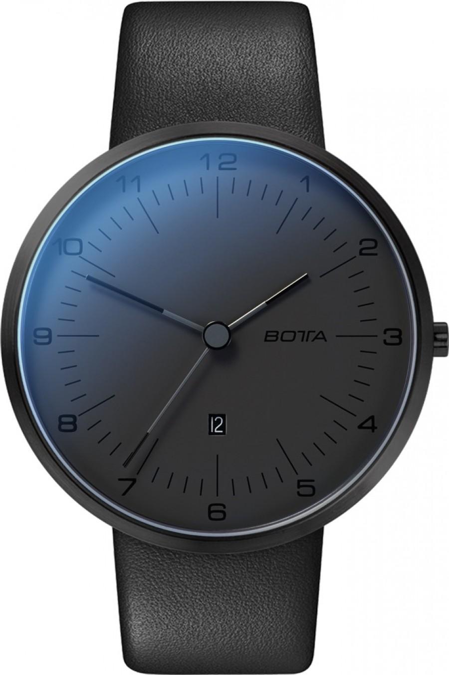 Botta Design tres plus All Black 44mm