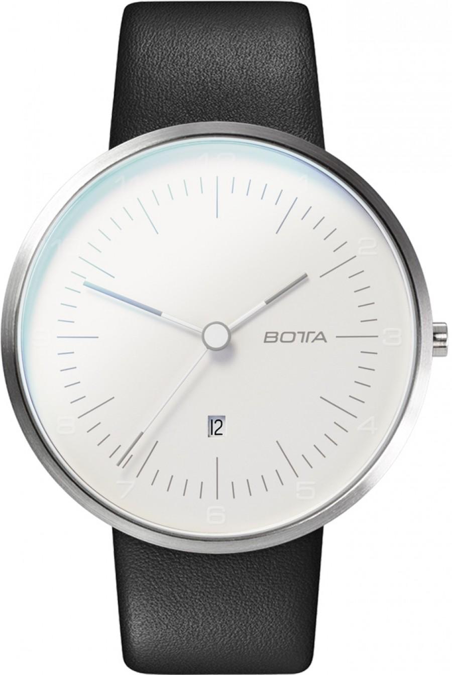 Botta Design tres plus pearl white 44mm