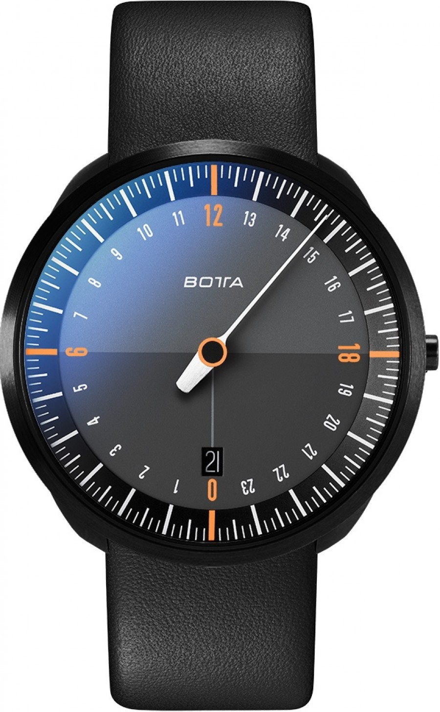 Botta Design uno 24 titan black edition orange 429010BE quartz 40mm