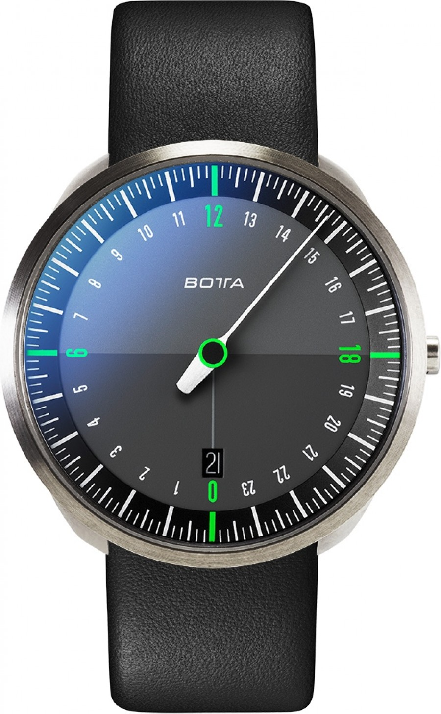 Botta Design uno 24 titan black-green 428010 quartz 40mm