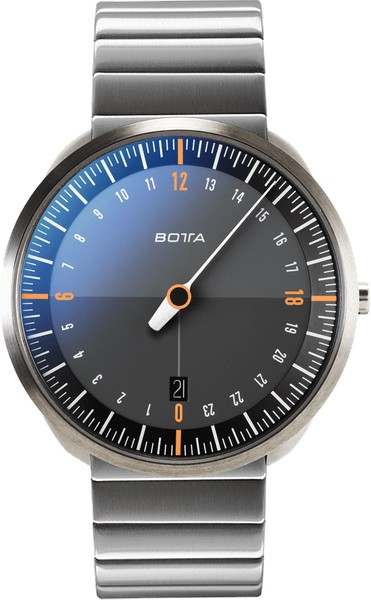 Botta Design uno 24 titan black-orange 429010 quartz 40mm