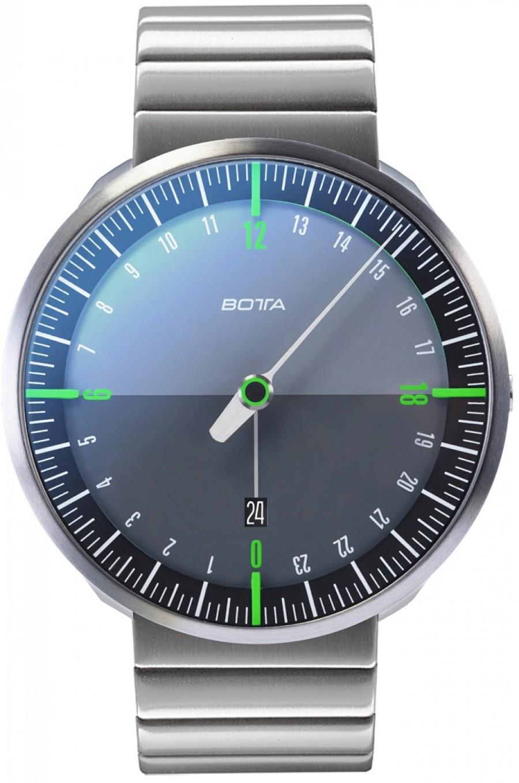Botta Design uno 24 titan black-green quartz 45mm