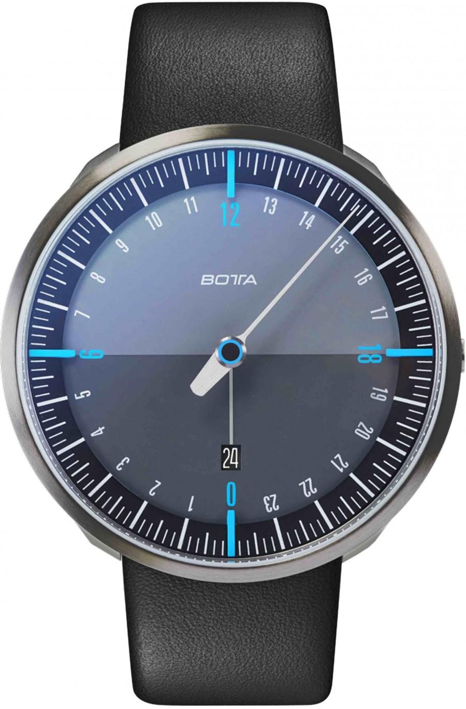 Botta Design uno 24 titan black-blue quartz 45mm