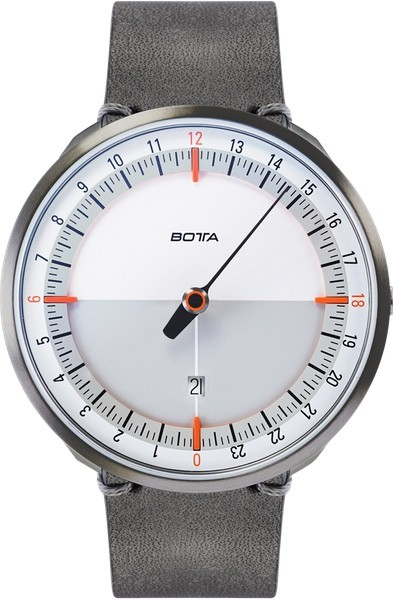 Botta Design uno 24 titan white-orange quartz 45mm