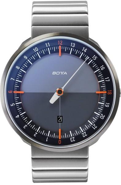Botta Design uno 24 titan black-orange quartz 45mm