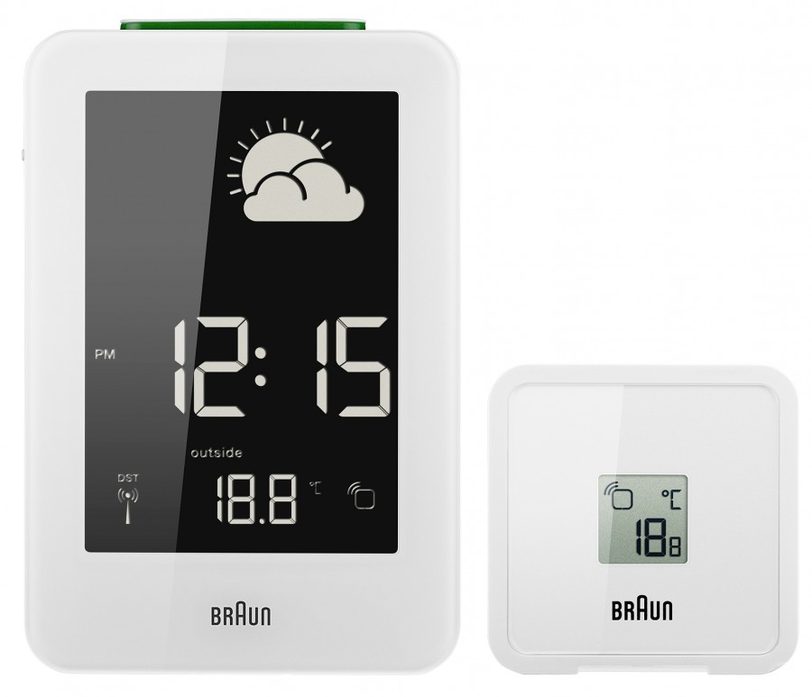 Braun digital weather clock BNC013WH-RC