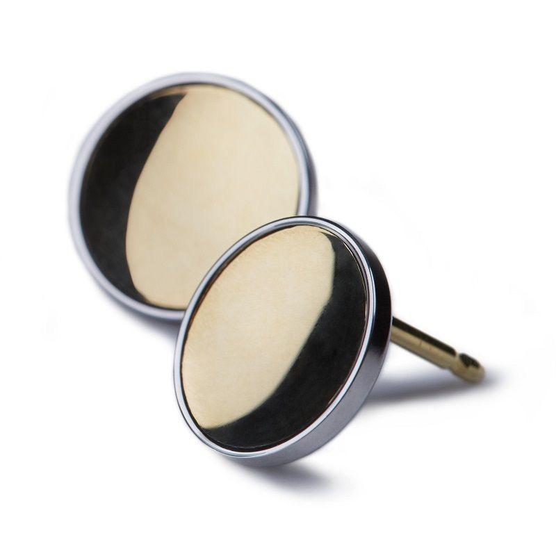 Ehinger Schwarz 1876 gold buttons gouden oorstekers