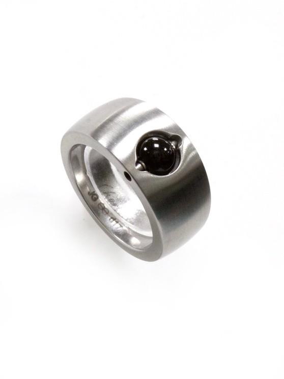 Ehinger Schwarz 1876 Charlotte edelstalen ring
