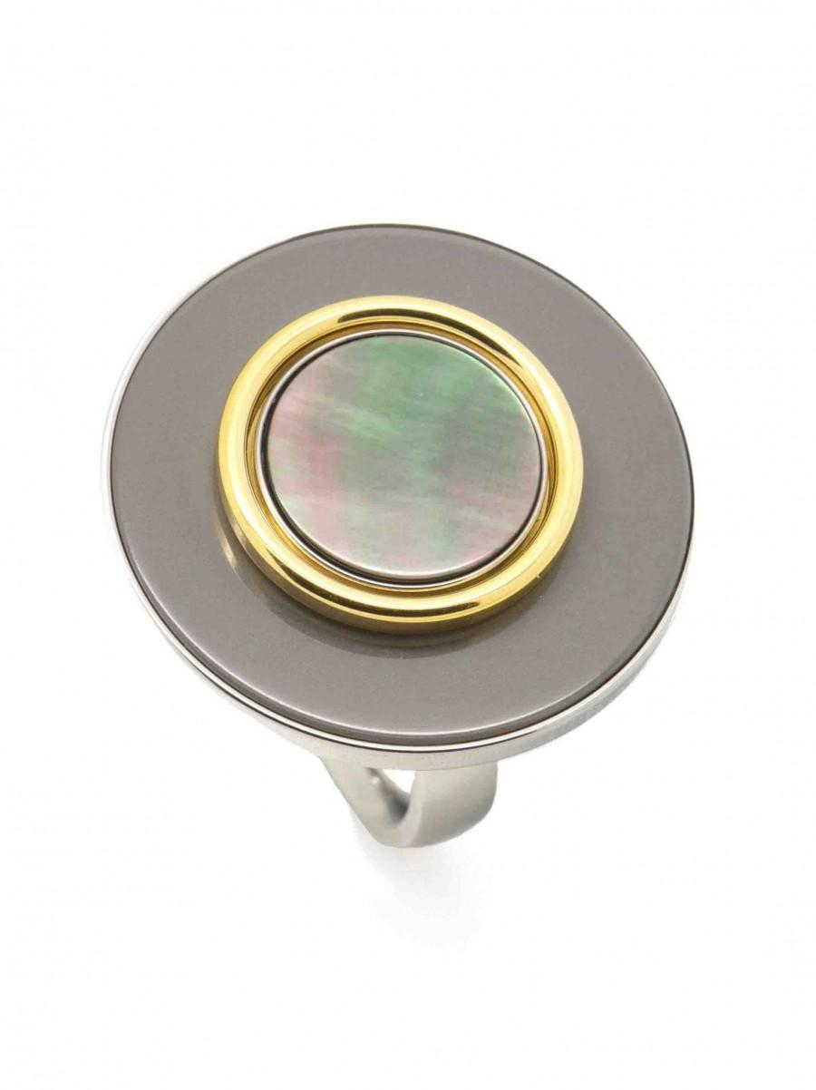 Ehinger Schwarz 1876 Charlotte tahiti button grijs goud