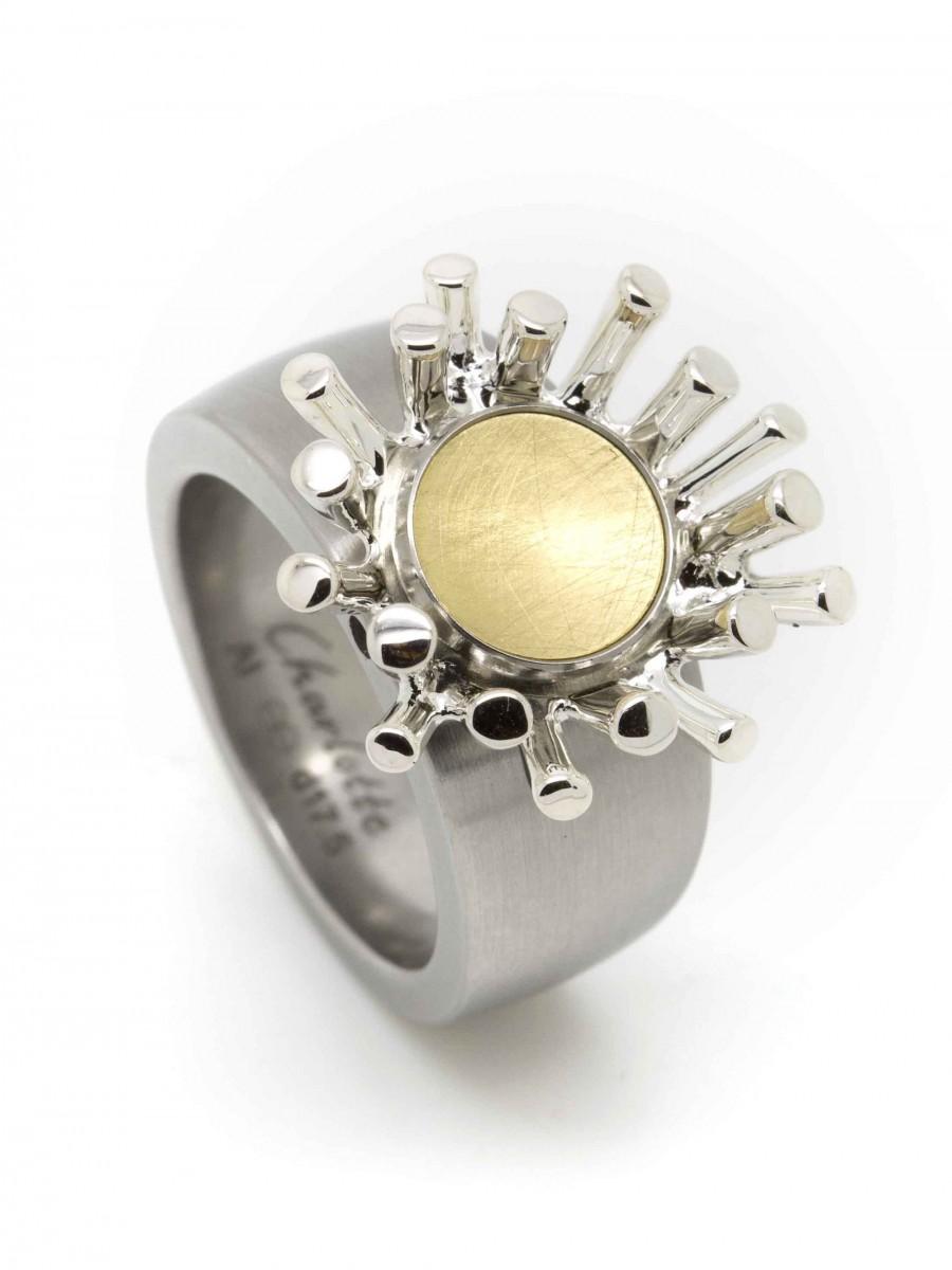 Ehinger Schwarz 1876 Charlotte zilver stekel/goud button