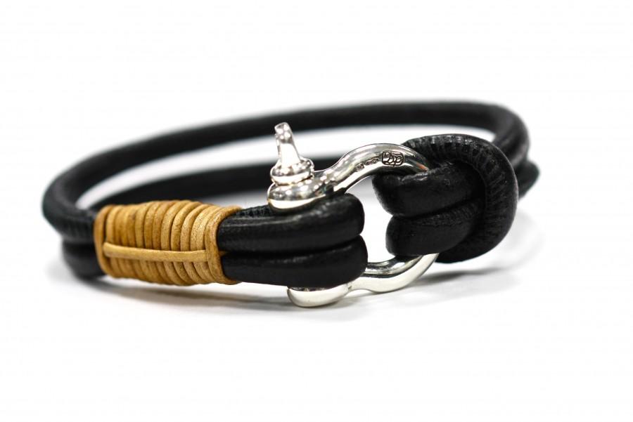 DP ART DP Art Zwart - camel leren armband
