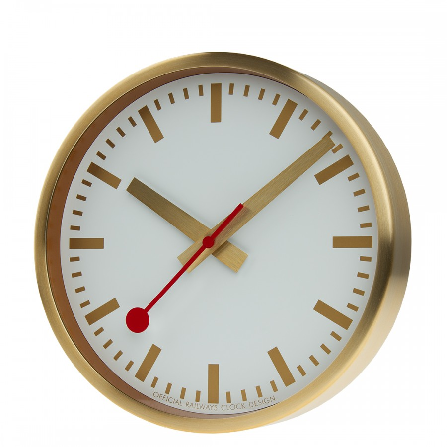 Mondaine klok gold 25cm A99017SBB.clock.SBB