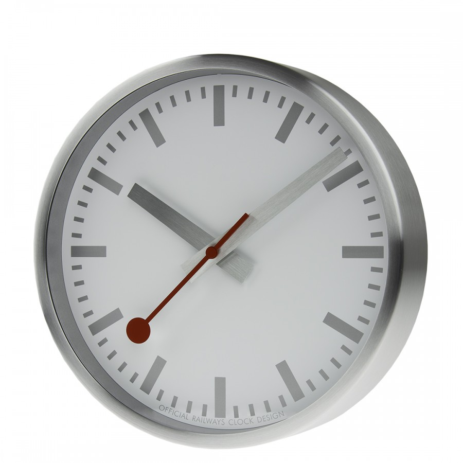 Mondaine klok silver 25cm A99017SBB.clock.SBV