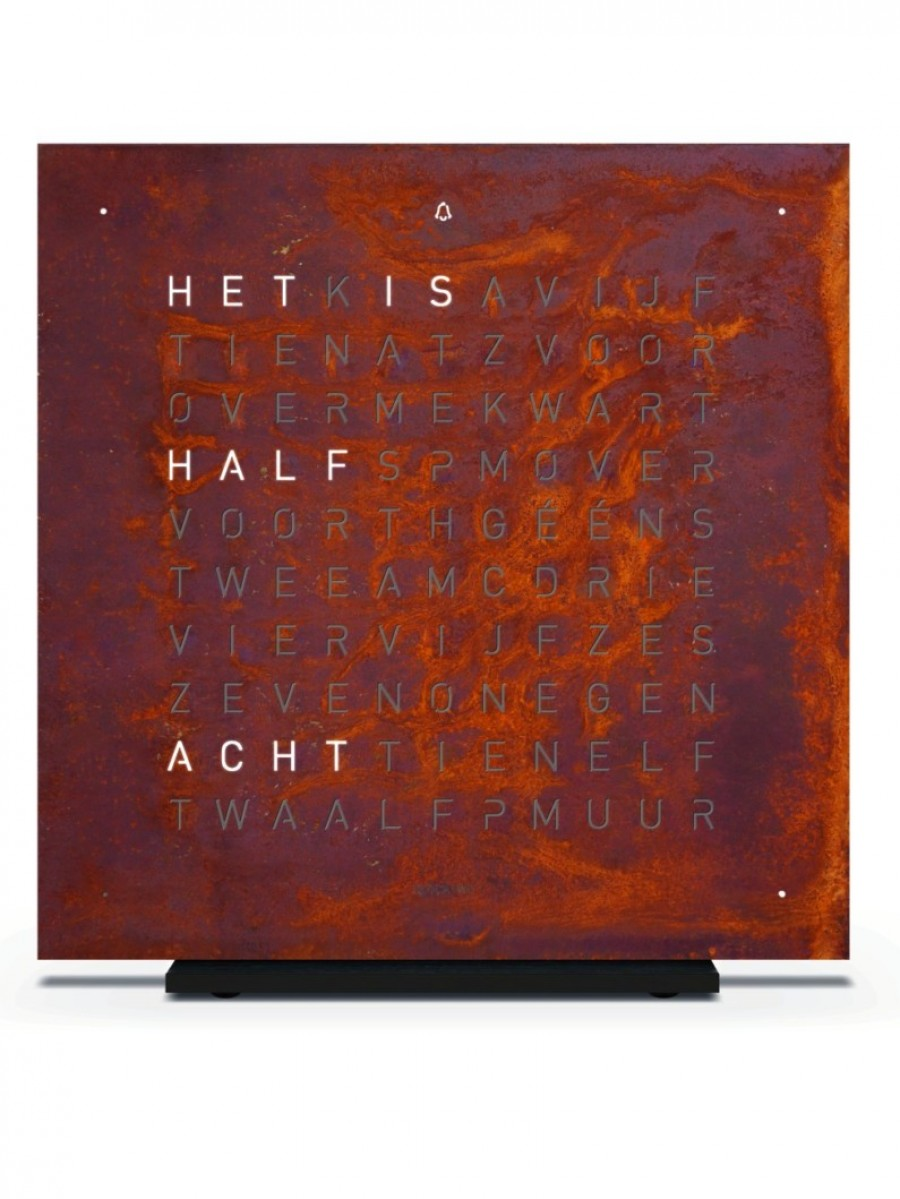QLOCKTWO TOUCH  Creator's Edition Rust  NL