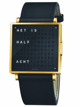 QLOCKTWO W39 Gold Black