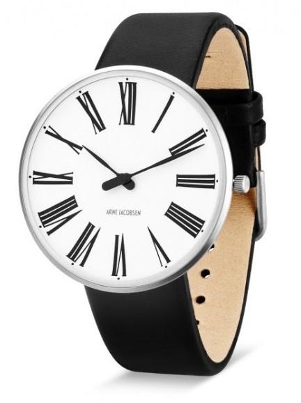 Arne Jacobsen Roman horloge 53301/2/3 leer