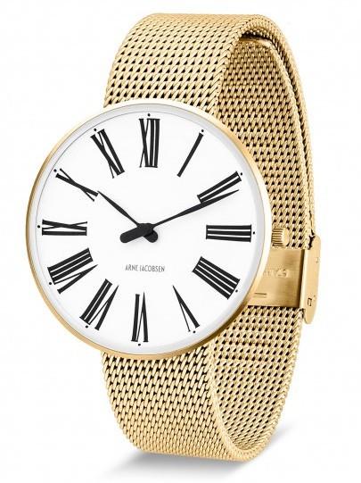 Arne Jacobsen Roman horloge 53308 staal/goud