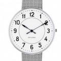 Arne Jacobsen Station horloge 53401/2 staal
