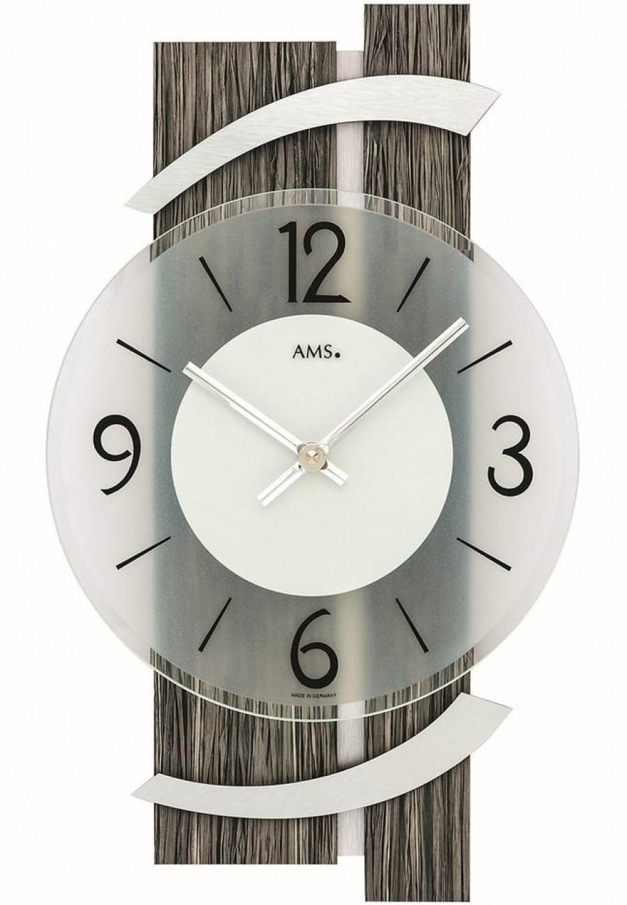 Wandklok modern AMS  9547