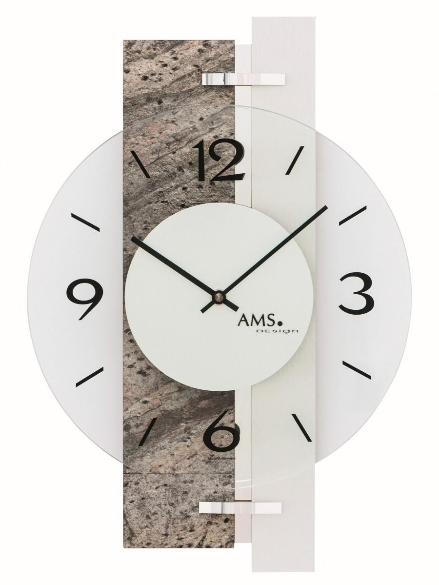Wandklok modern AMS  9558